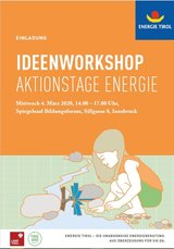 Event-Bild Ideenworkshop Aktionstage Energie